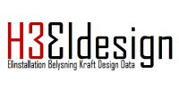 H3 eldesign logotyp